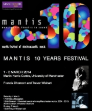MANTIS 10 year festival poster March 2014