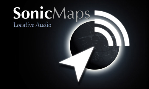 Sonic Maps logo (white on black)